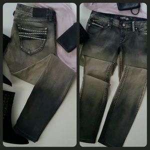 ♣️EXPRESS {Ombre} Greish Low Rise Skinny Jeans